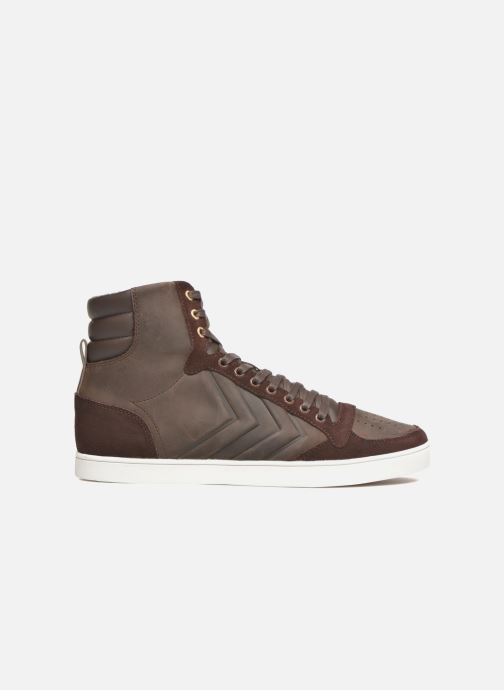 Sneakers Hummel Ten Star Mono Oiled High Marrone immagine posteriore