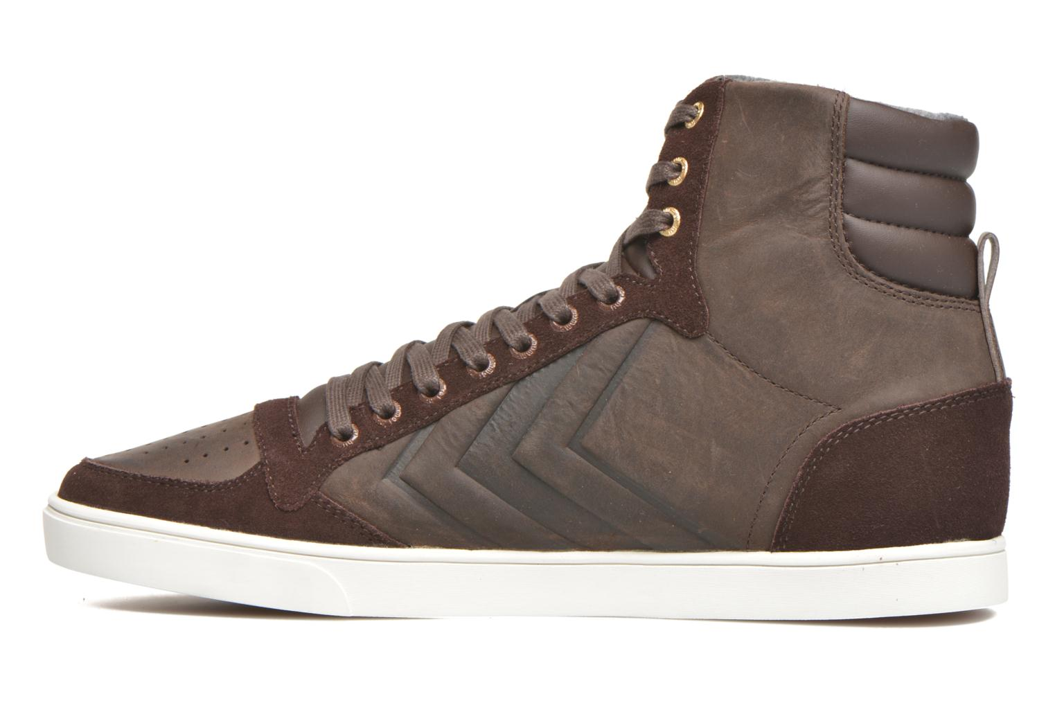 Baskets Hummel Ten Star Mono Oiled High Marron vue face
