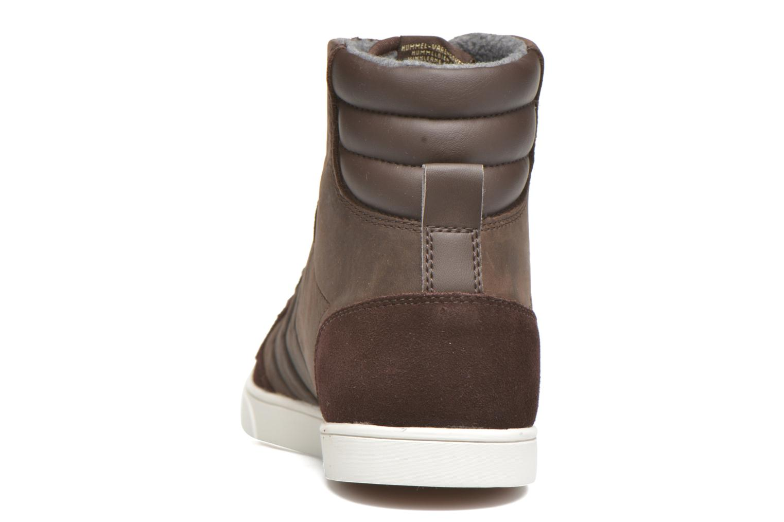 Baskets Hummel Ten Star Mono Oiled High Marron vue droite