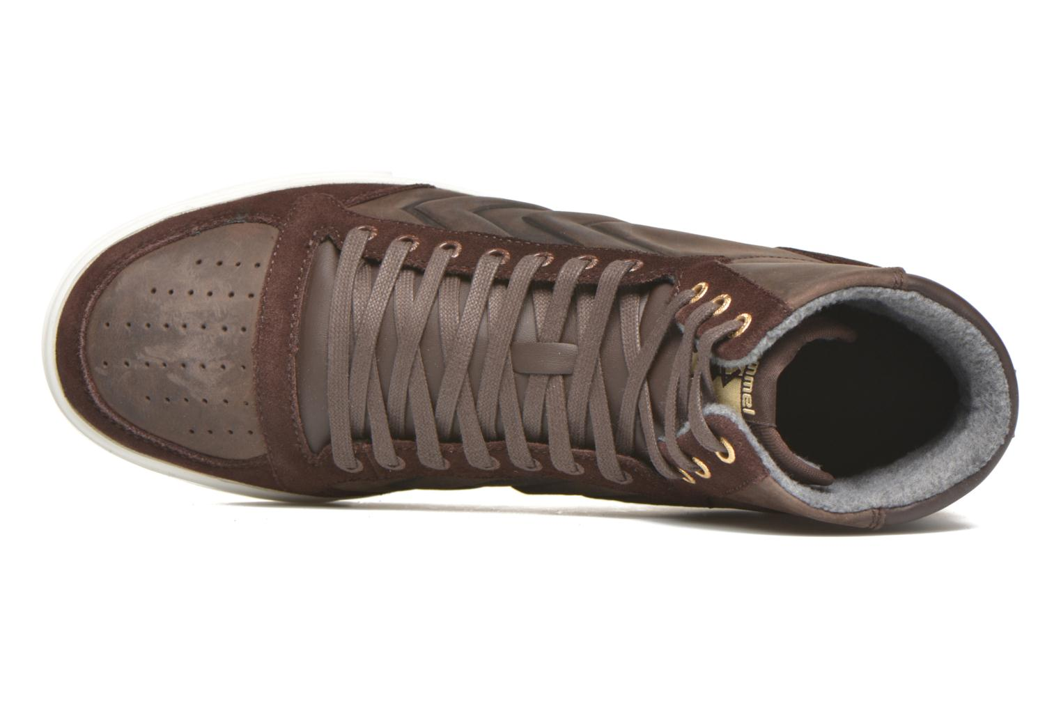 Trainers Hummel Ten Star Mono Oiled High Brown view from the left