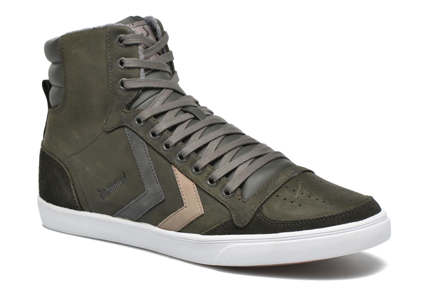 Baskets Hummel Ten Star Duo Oiled High Gris vue détail/paire
