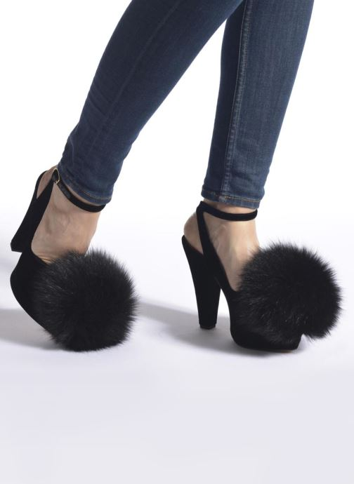 High heels Sonia Rykiel Plateforme Pompon Black view from underneath / model view