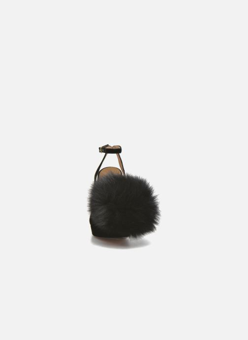 Escarpins Sonia Rykiel Plateforme Pompon Noir vue portées chaussures