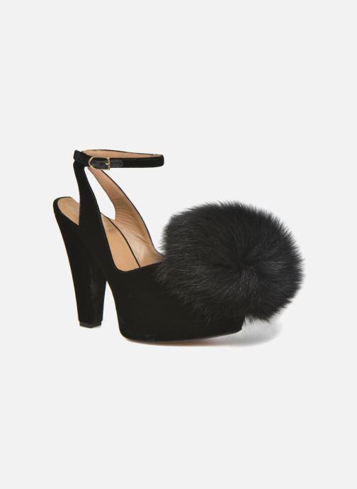 Zapatos de tacón Sonia Rykiel Plateforme Pompon Negro vista de detalle / par