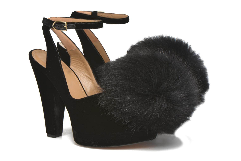 High heels Sonia Rykiel Plateforme Pompon Black 3/4 view