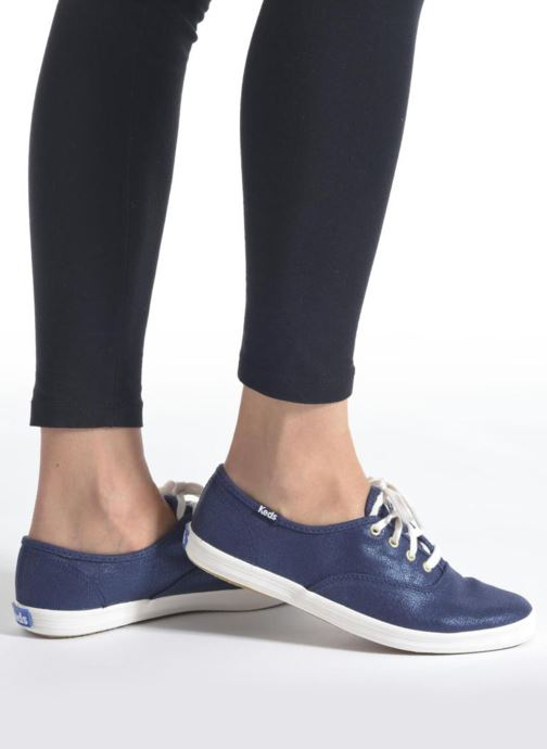 Baskets Keds Ch Metallic Canvas Bleu vue bas / vue portée sac