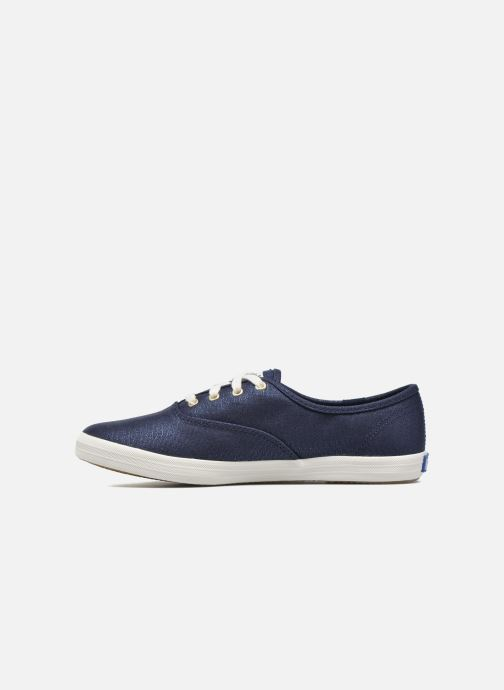 Baskets Keds Ch Metallic Canvas Bleu vue face