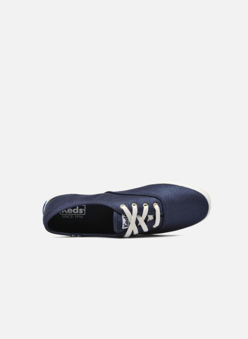 Baskets Keds Ch Metallic Canvas Bleu vue gauche