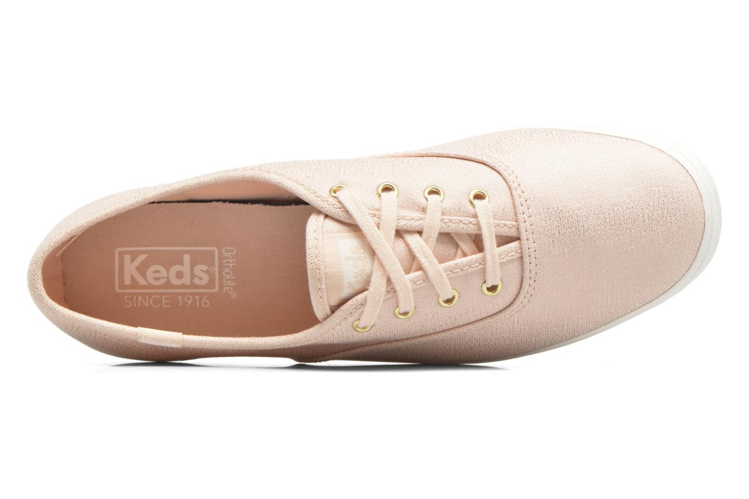 Trainers Keds Ch Metallic Canvas Pink view from the left