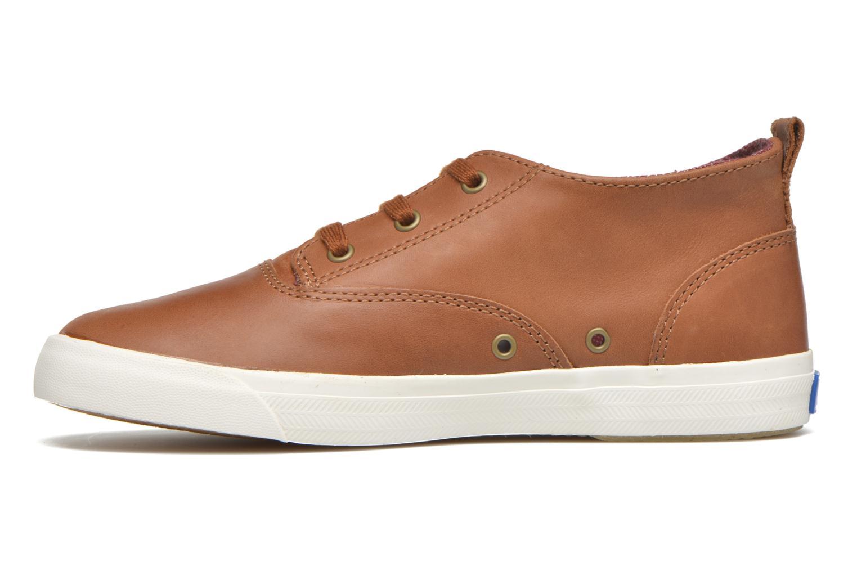 Sneaker Keds Triumph Mid Leather braun ansicht von vorne