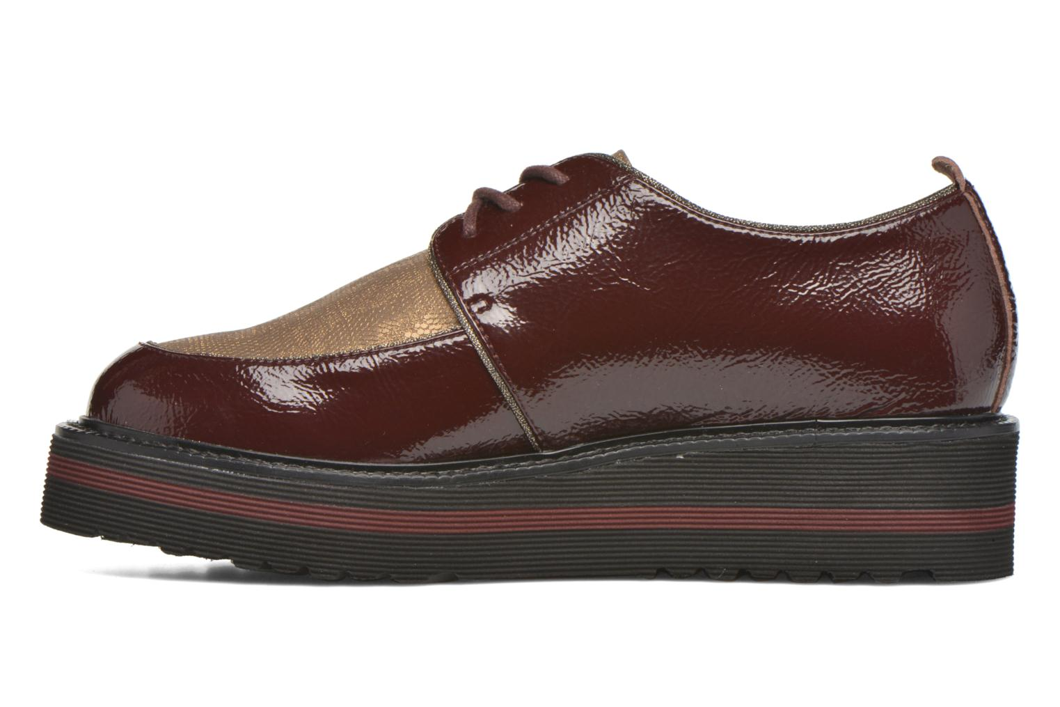 Lace-up shoes No Name Blow Derby Crease / Skin Burgundy front view