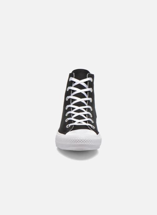 Baskets Converse Chuck Taylor All Star Gemma Twill Hi Noir vue portées chaussures