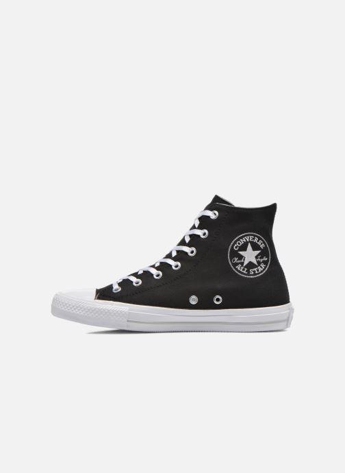 Sneakers Converse Chuck Taylor All Star Gemma Twill Hi Zwart voorkant