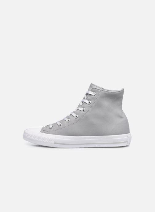 Sneakers Converse Chuck Taylor All Star Gemma Twill Hi Grijs voorkant