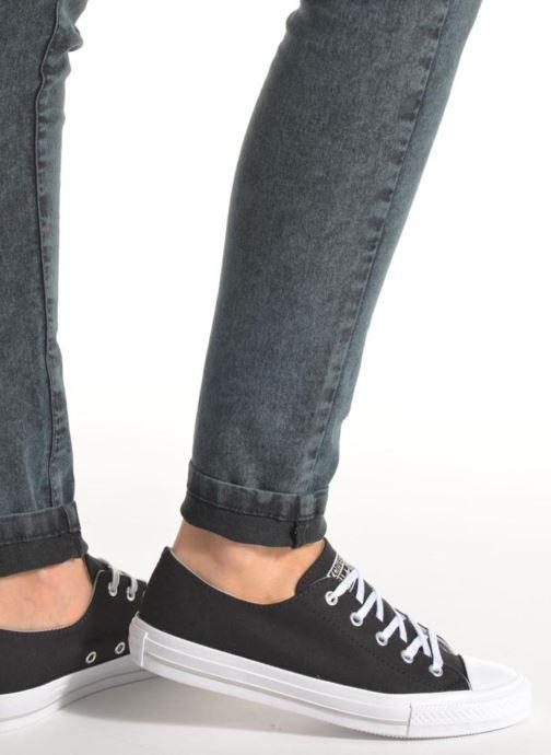 Sneakers Converse Chuck Taylor All Star Gemma Twill Ox Nero immagine dal basso
