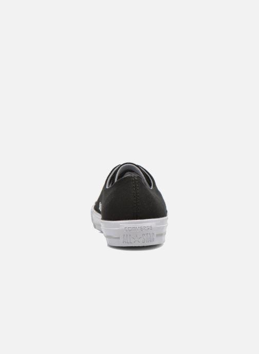 Sneakers Converse Chuck Taylor All Star Gemma Twill Ox Nero immagine destra