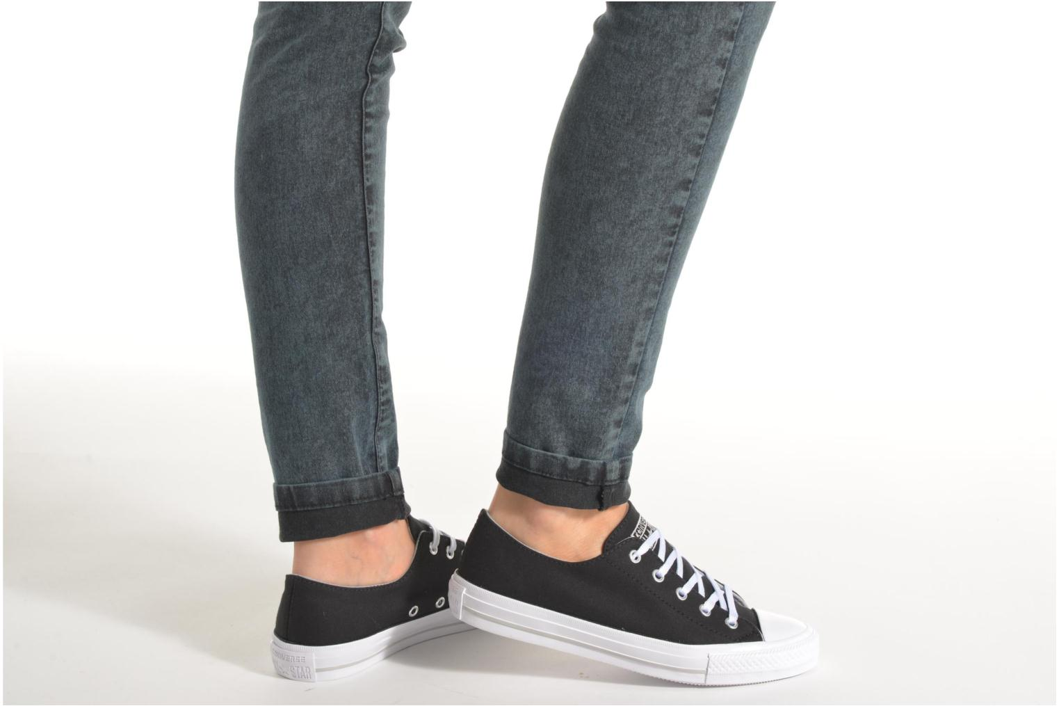 Trainers Converse Chuck Taylor All Star Gemma Twill Ox Black view from underneath / model view