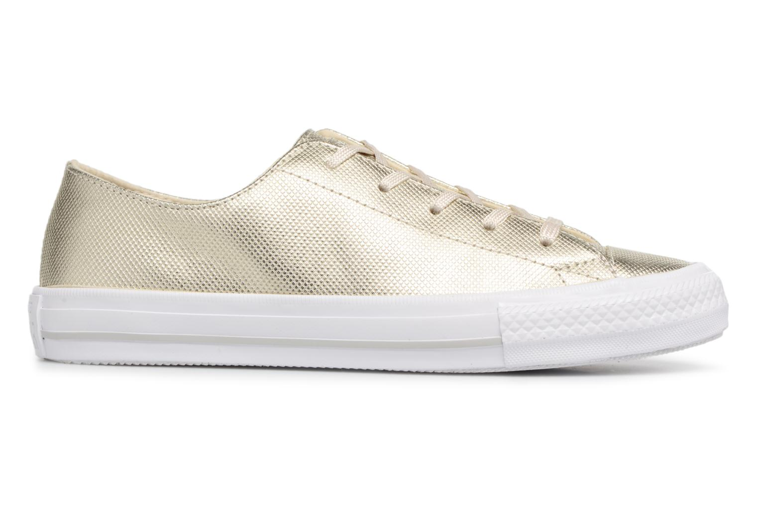 Trainers Converse Ctas Gemma Diamond Foil Leather Ox Bronze and Gold back view