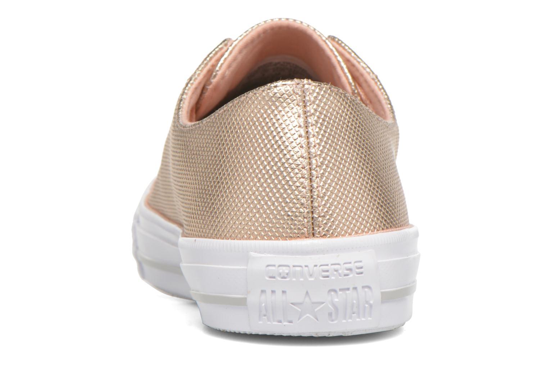 Baskets Converse Ctas Gemma Diamond Foil Leather Ox Rose vue droite