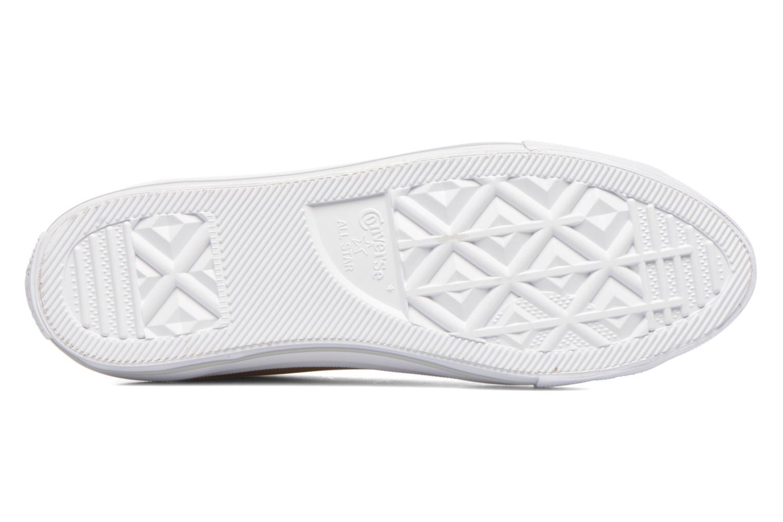 Baskets Converse Ctas Gemma Diamond Foil Leather Ox Rose vue haut