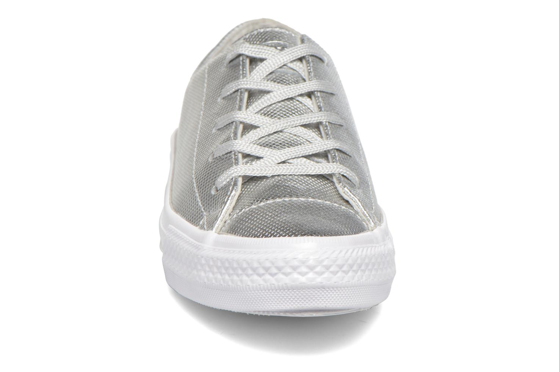 Sneaker Converse Ctas Gemma Diamond Foil Leather Ox silber schuhe getragen