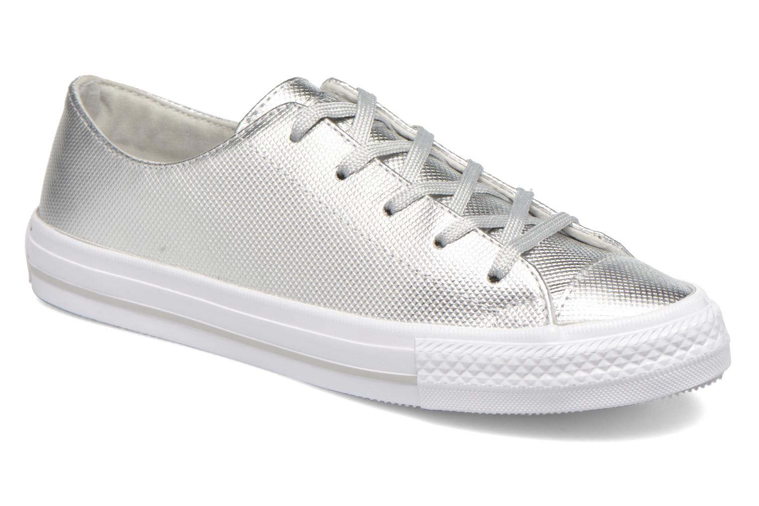 Trainers Converse Ctas Gemma Diamond Foil Leather Ox Silver detailed view/ Pair view