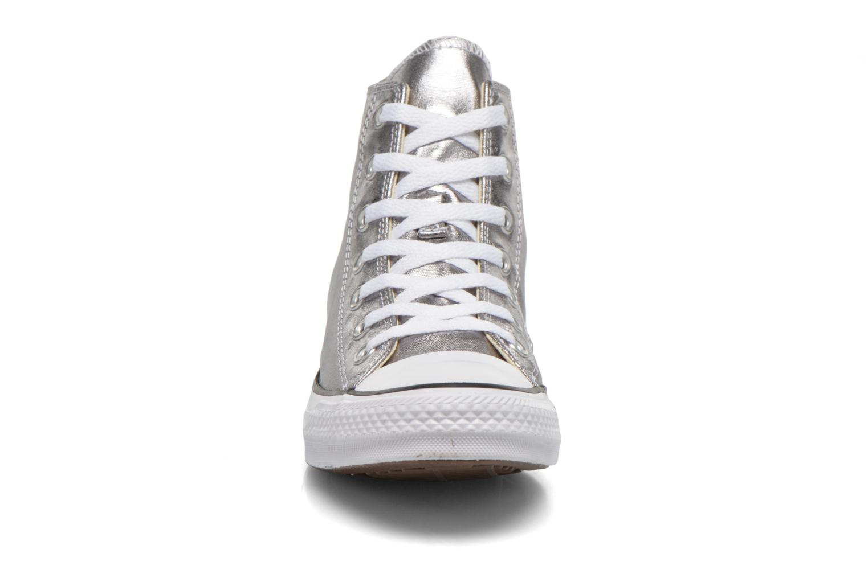 Baskets Converse Chuck Taylor All Star Hi Metallics W Argent vue portées chaussures