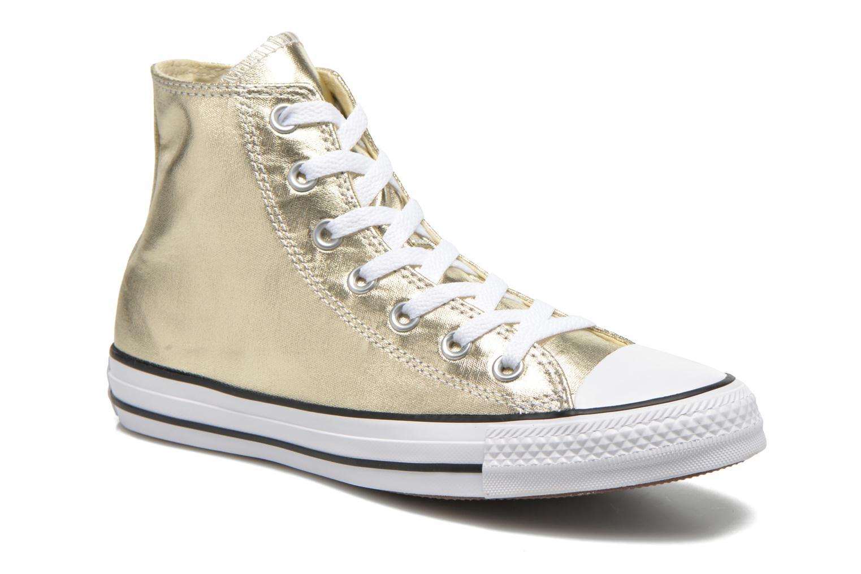 Baskets Converse Chuck Taylor All Star Hi Metallics W Or et bronze vue détail/paire
