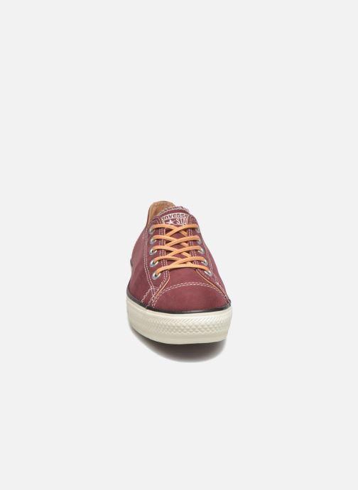 Sneakers Converse Ctas High Line Peached Canvas Ox Röd bild av skorna på
