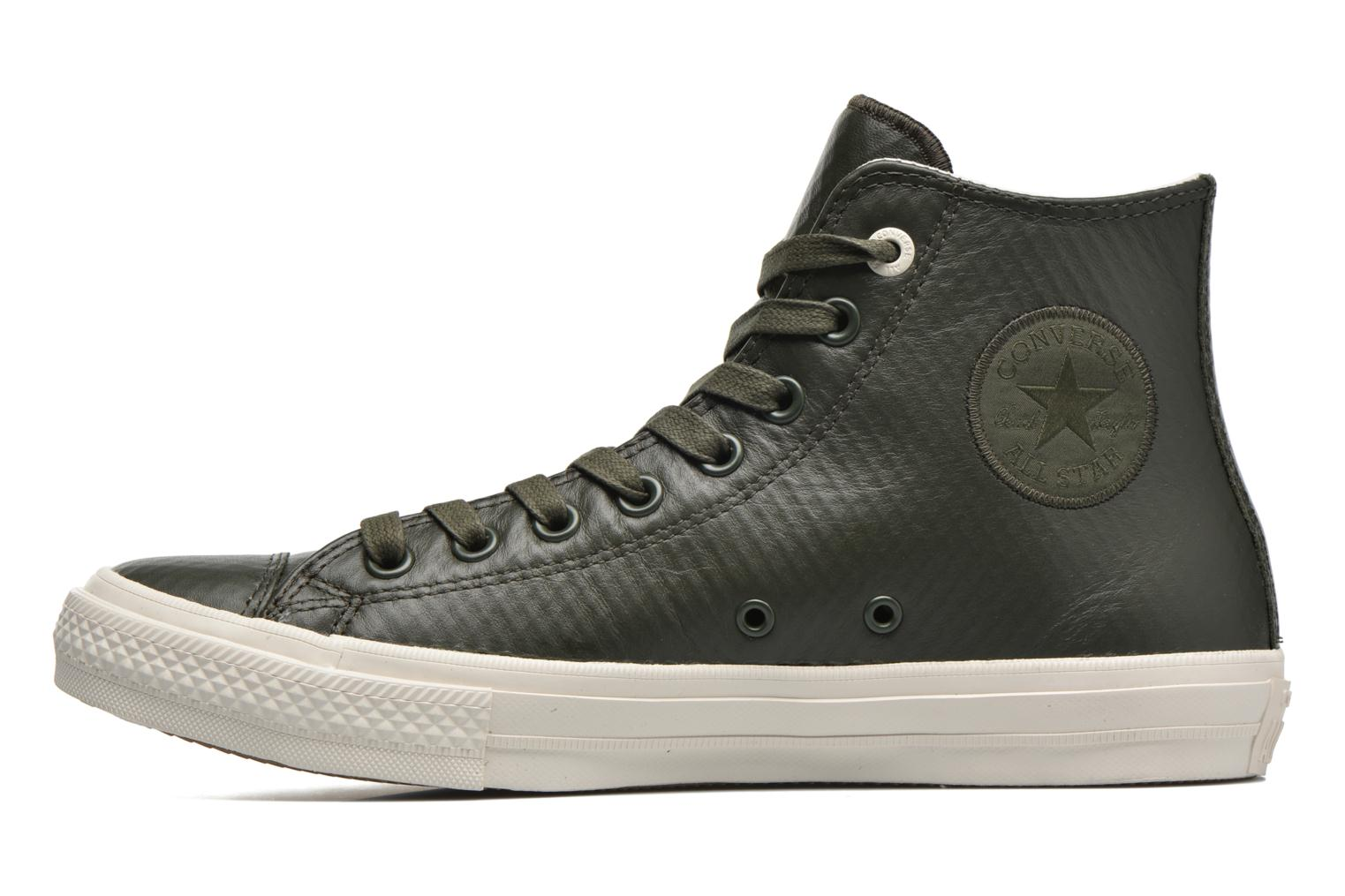 Baskets Converse Chuck Taylor All Star II Mesh-Backed Leather Hi M Gris vue face