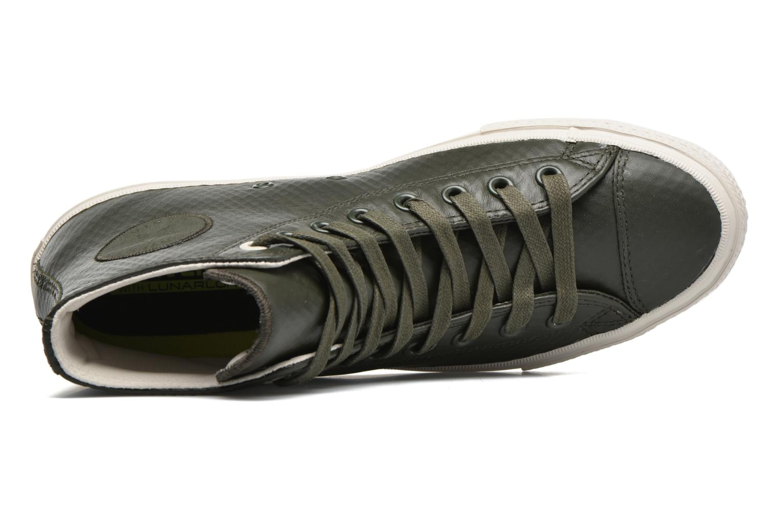 Baskets Converse Chuck Taylor All Star II Mesh-Backed Leather Hi M Gris vue gauche