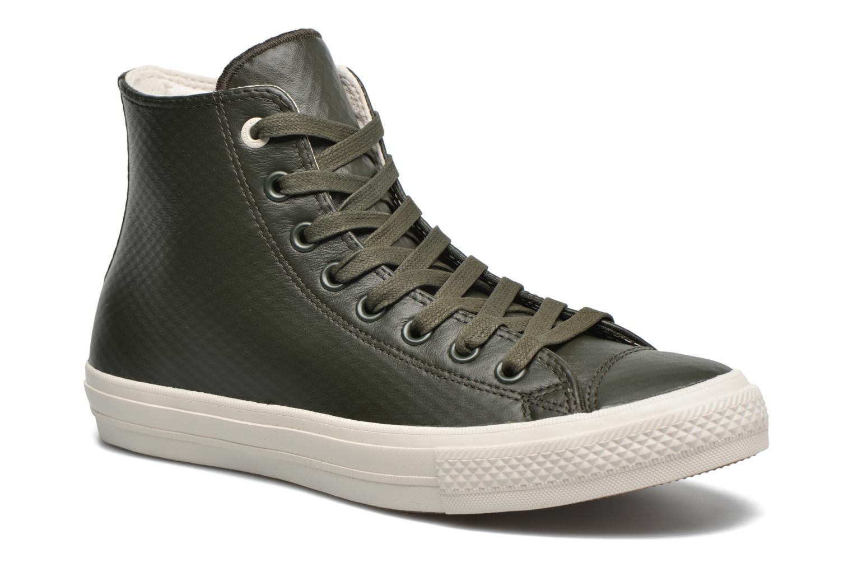 Baskets Converse Chuck Taylor All Star II Mesh-Backed Leather Hi M Gris vue détail/paire