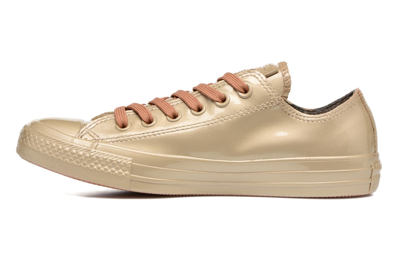 Sneakers Converse Ctas Metallic Rubber Ox W Goud en brons voorkant