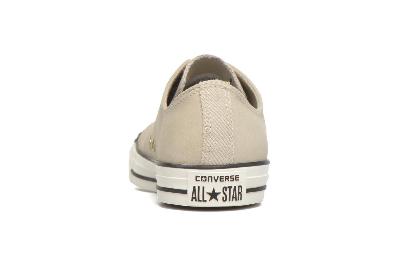 Sneaker Converse Ctas Ox Lthr M beige ansicht von rechts