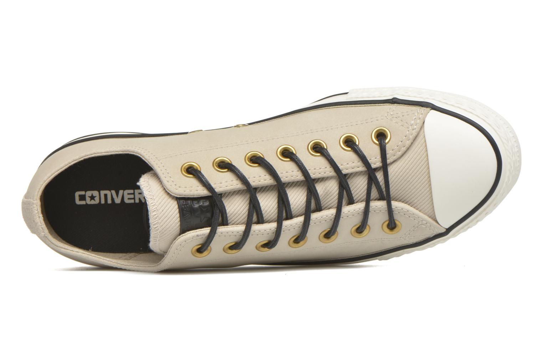 Sneaker Converse Ctas Ox Lthr M beige ansicht von links