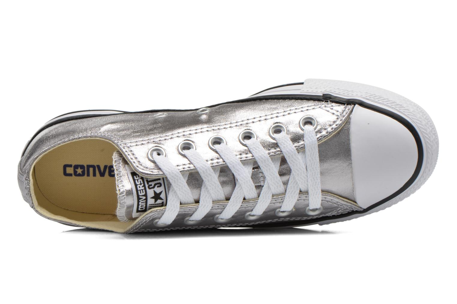Trainers Converse Chuck Taylor All Star Ox Metallics W Silver view from the left