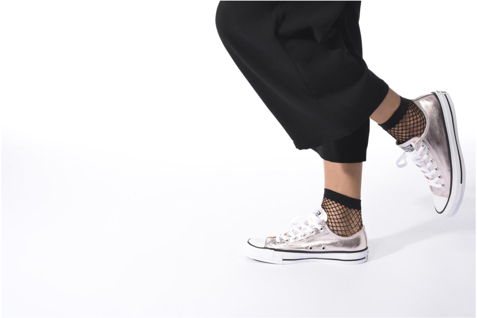 Trainers Converse Chuck Taylor All Star Ox Metallics W Bronze and Gold view from underneath / model view