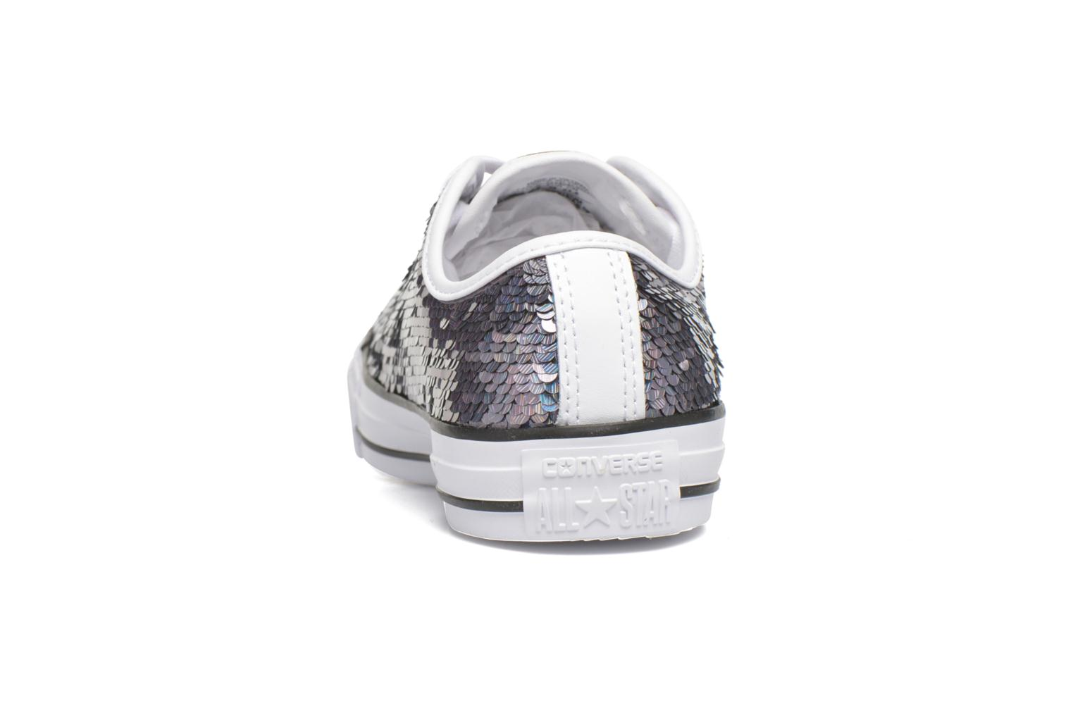 Baskets Converse Chuck Taylor All Star Iridescent Sequin Ox W Gris vue droite
