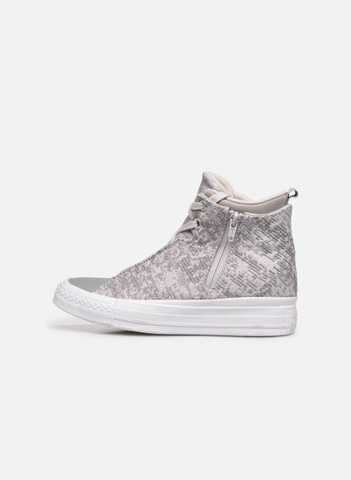 Baskets Converse Ctas Selene Winter Knit Mid Blanc vue face