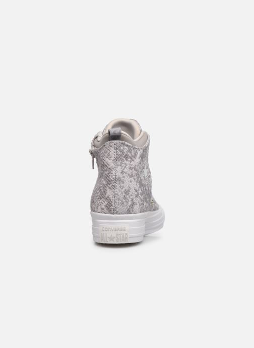 Baskets Converse Ctas Selene Winter Knit Mid Blanc vue droite