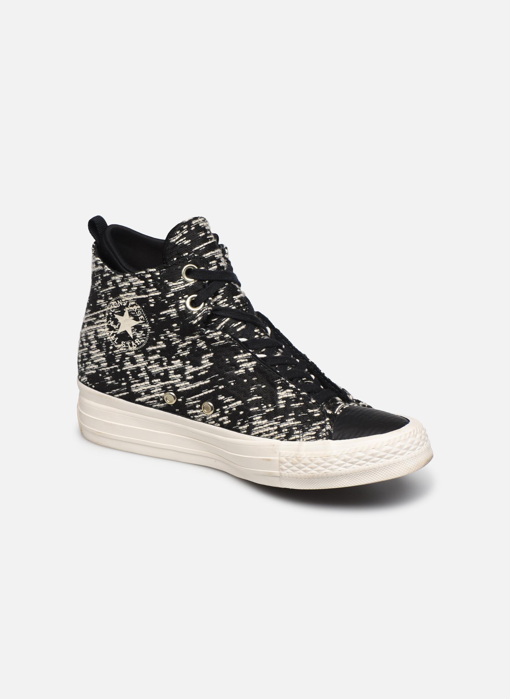 Baskets Converse Ctas Selene Winter Knit Mid Noir vue détail/paire