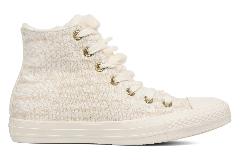 Baskets Converse Ctas Winter Knit/Fur Hi Beige vue derrière