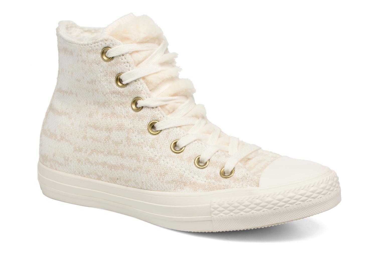 Baskets Converse Ctas Winter Knit/Fur Hi Beige vue détail/paire