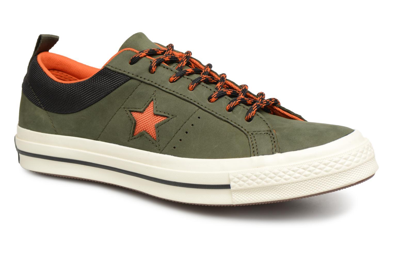 Baskets Converse One Star Ox M Vert vue détail/paire