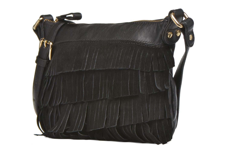 Handbags Mellow Yellow AMANDINA Porté travers à franges Black model view