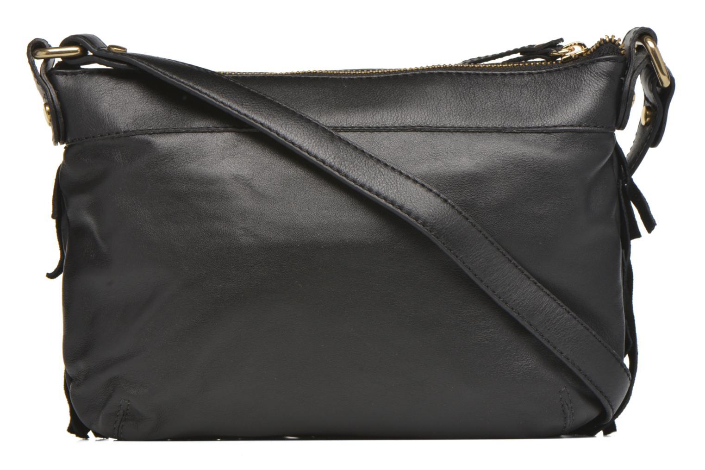 Handbags Mellow Yellow AMANDINA Porté travers à franges Black front view