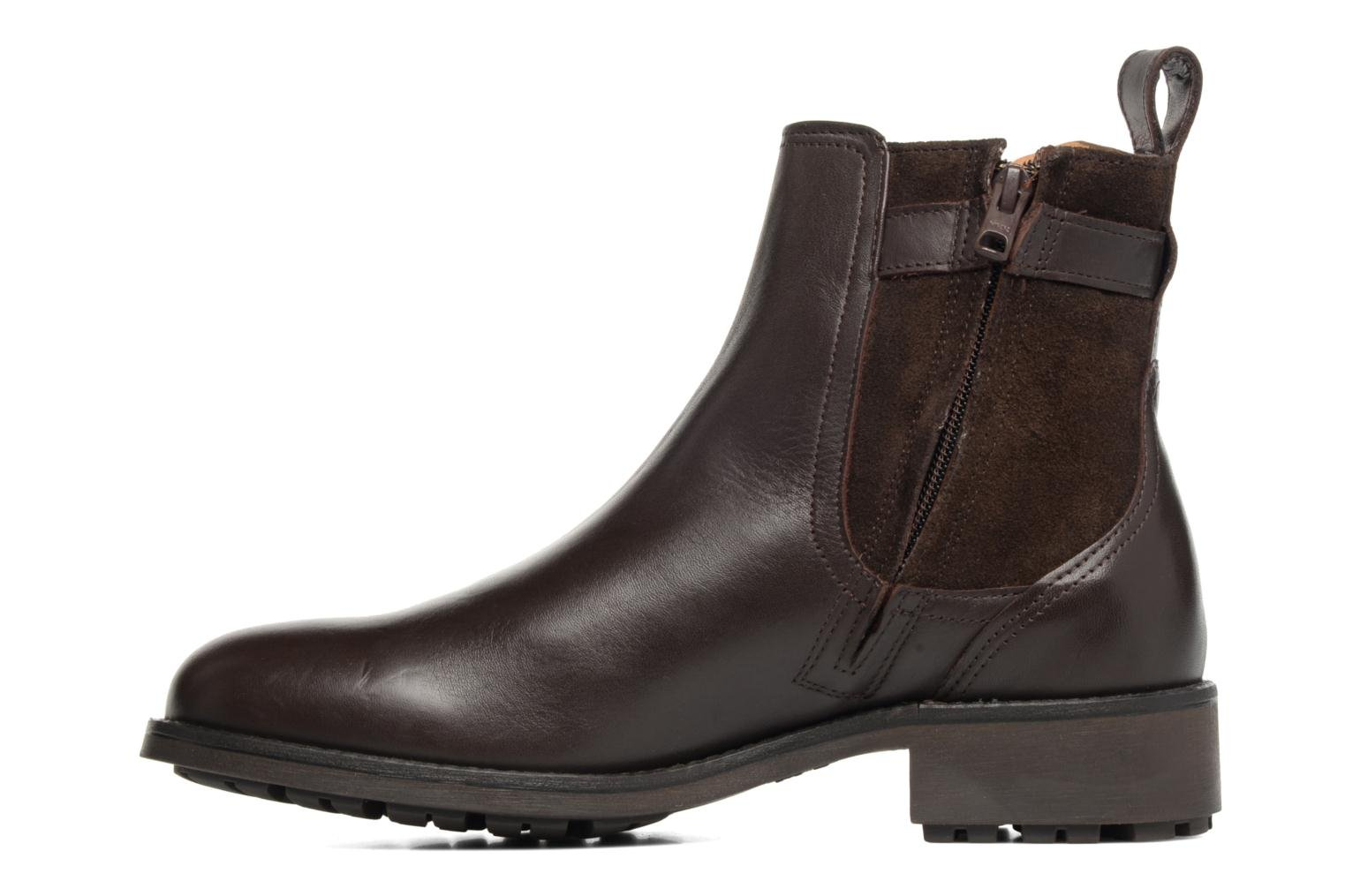 Ankle boots Aigle Chante Conti Brown front view