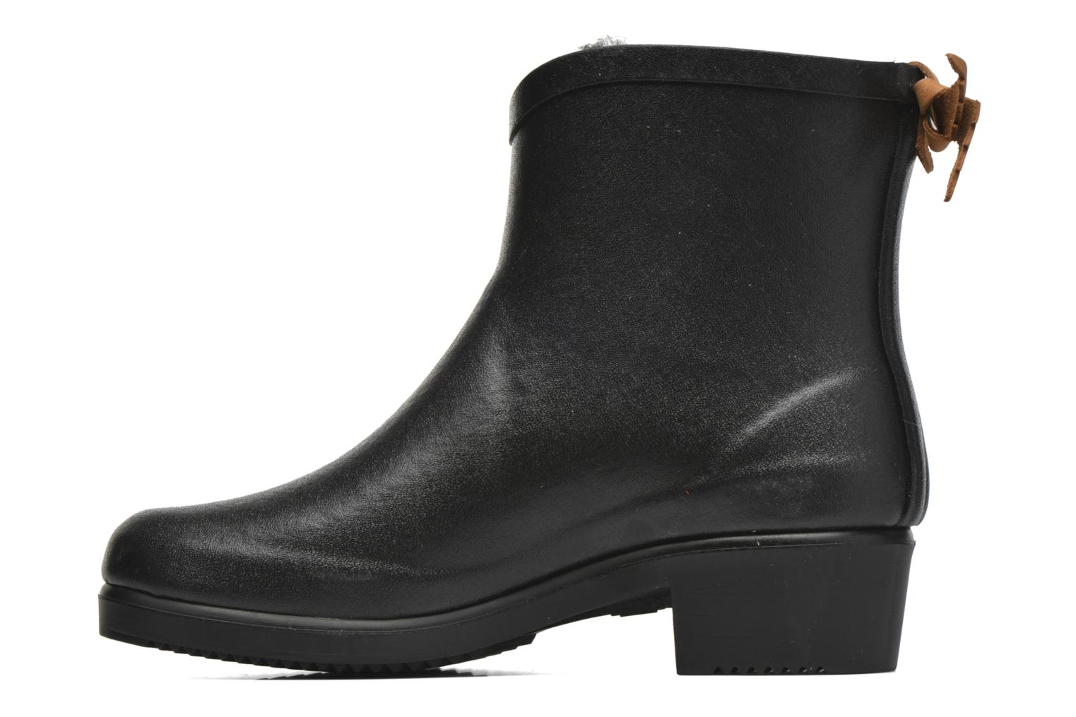 Ankle boots Aigle Miss Juliette Botillon Fur Black front view