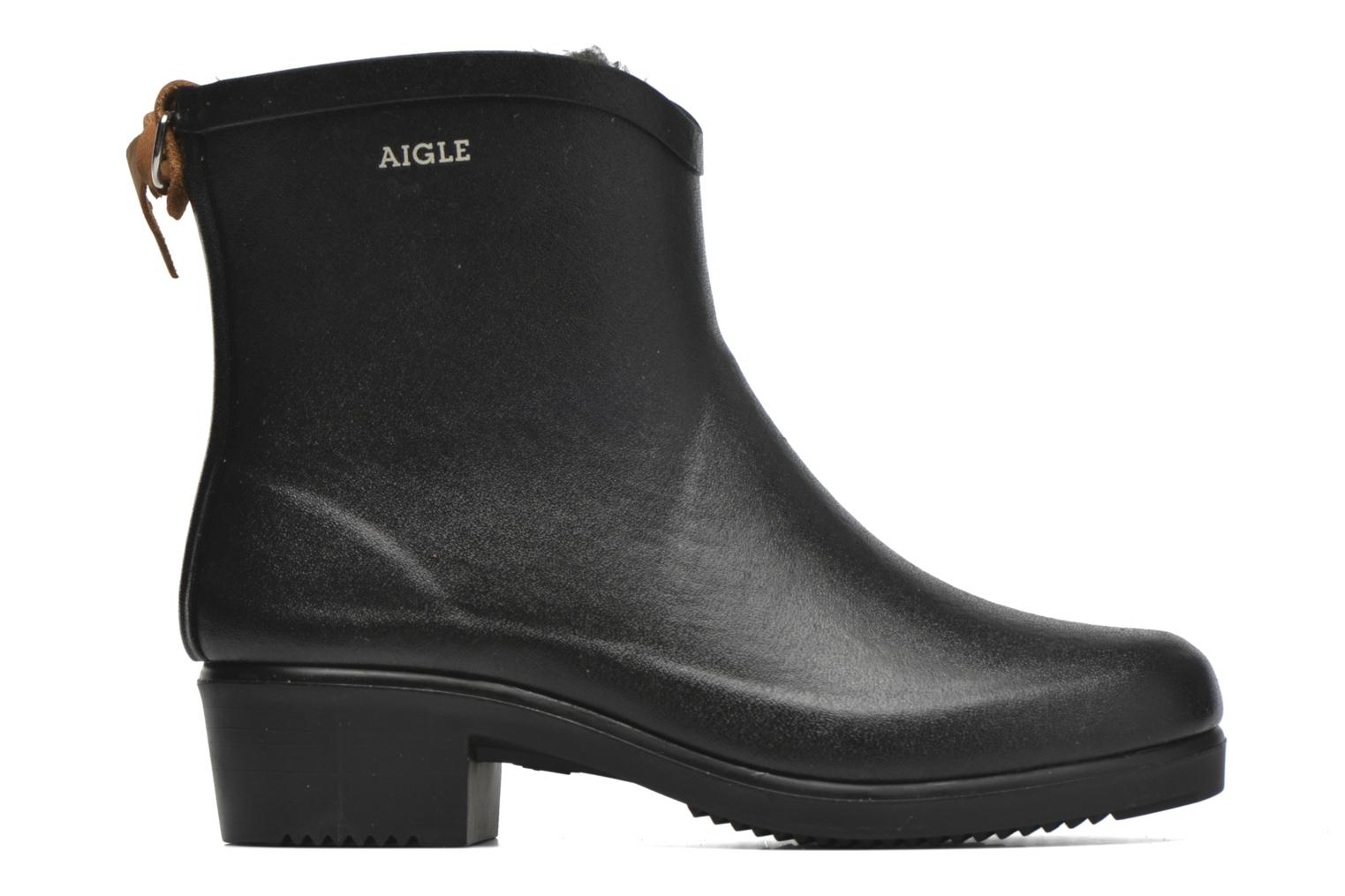 Ankle boots Aigle Miss Juliette Botillon Fur Black back view
