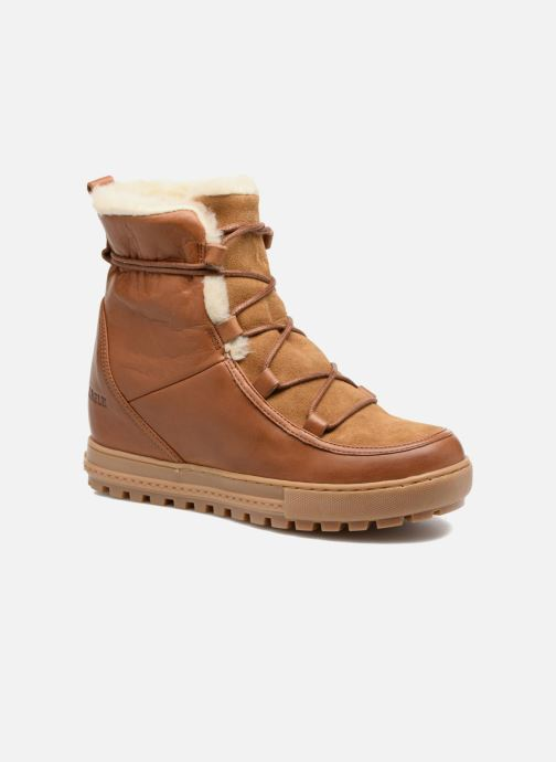 Ankle boots Aigle Laponwarm Brown detailed view/ Pair view
